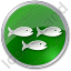 Fish Hatchery Circle Green Icon