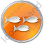 Fish Hatchery Circle Orange Icon