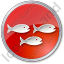 Fish Hatchery Circle Red Icon