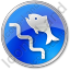 Fish Ladder Circle Blue Icon