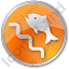 Fish Ladder Circle Orange Icon