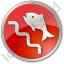 Fish Ladder Circle Red Icon