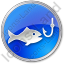 Fishing Circle Blue Icon