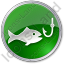 Fishing Circle Green Icon