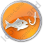 Fishing Circle Orange Icon