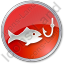 Fishing Circle Red Icon