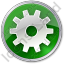 Gear Circle Green Icon, PNG/ICO, 64x64