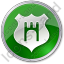 Government Badge Circle Green Icon