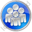 Group Circle Blue Icon