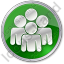 Group Circle Green Icon