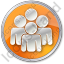 Group Circle Orange Icon