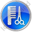 Hair Salon Circle Blue Icon