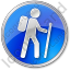 Hiking Circle Blue Icon
