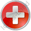 Hospital Cross Circle Red Icon, PNG/ICO, 64x64