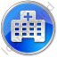 Hospital Facility Circle Blue Icon