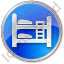 Hostel Circle Blue Icon, PNG/ICO, 64x64