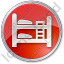 Hostel Circle Red Icon