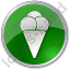 Ice Cream Circle Green Icon