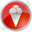 Ice Cream Circle Red Icon