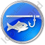 Ice Fishing Circle Blue Icon