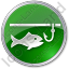 Ice Fishing Circle Green Icon