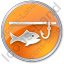 Ice Fishing Circle Orange Icon