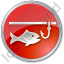 Ice Fishing Circle Red Icon