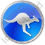 Kangaroo Circle Blue Icon
