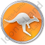 Kangaroo Circle Orange Icon