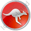 Kangaroo Circle Red Icon