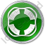 Lifebuoy Circle Green Icon