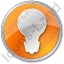 Light Circle Orange Icon, PNG/ICO, 64x64