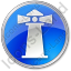 Lighthouse Circle Blue Icon