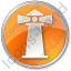 Lighthouse Circle Orange Icon