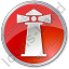 Lighthouse Circle Red Icon