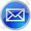 Mail Envelope Circle Blue Icon