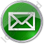 Mail Envelope Circle Green Icon, PNG/ICO, 64x64