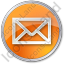 Mail Envelope Circle Orange Icon