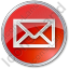 Mail Envelope Circle Red Icon