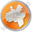 Map District Circle Orange Icon