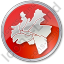 Map District Circle Red Icon