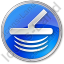 Metal Detector Circle Blue Icon