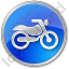 Motorcycle Circle Blue Icon, PNG/ICO, 64x64