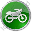 Motorcycle Circle Green Icon
