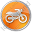 Motorcycle Circle Orange Icon