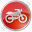 Motorcycle Circle Red Icon