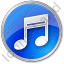 Music Circle Blue Icon