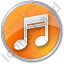 Music Circle Orange Icon