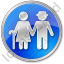 Nursing Home Circle Blue Icon
