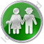 Nursing Home Circle Green Icon